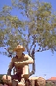 The swagman monument in Winton, Queensland.